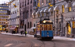 Единственная сохранившаяся в городе трамвайная линия