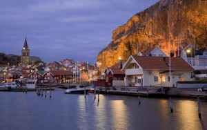 Рыболовный поселок Фьельбака на западном побережье Швеции