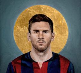 Художник рисует иконы с футболистами. Его обвиняют в богохульстве